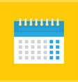 flat calendar icon calendar on wall vector image vector image