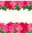 floral border horizontal seamless background vector image vector image