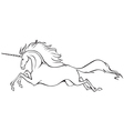 galloping unicorn vector image vector image