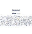gambling doodle concept vector image