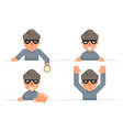 greedily evil thief grabbing hand flashlight vector image vector image
