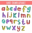 Hand drawn colorful english alphabet vector image vector image