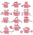 Holiday gifts with ribbons vector image