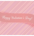 Holiday pink Banner for Valentines Day vector image vector image