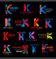 letter k creative icons modern corporate identity vector image vector image