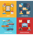 Logistic And Transportation Concept Set vector image vector image