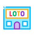 lotto house icon outline vector image vector image