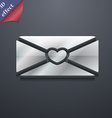 love letter icon symbol 3D style Trendy modern vector image