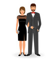 male and female couple in elegant clothes for vector image vector image