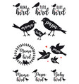 mama bird papa bird baset vector image vector image
