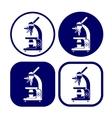 microscope icon set vector image