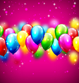 Multicolored inflatable celebration balloons on vector image vector image