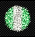 nigeria flag sparkling badge vector image vector image