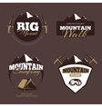 Outdoor mountain camping alpinism emblems vector image vector image