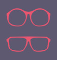 pink nerd glasses with thick holder vector image