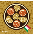 Pizza Design Template vector image