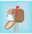 Postal box with letter vector image