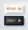 premium gift voucher template the design of cards vector image