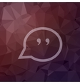 Quotation Mark Speech Bubble in flat style icon vector image