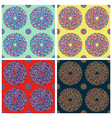 Seamless colorful circle pattern vector image vector image
