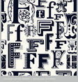 seamless vintage pattern letter F vector image vector image