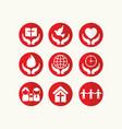 set of christian logos and biblical symbols vector image vector image