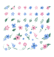 Set of Flowers for Decoration and Greeting Cards vector image