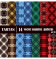 Set tartan seamless pattern in different colors vector image vector image