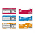 set travel concept airplane tickets isolated vector image