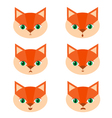 set with foxes vector image
