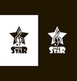 singer star icons vector image vector image