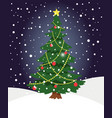 snow xmas tree winter evergreen christmas tree vector image