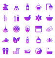 spa gradient icons on white background vector image