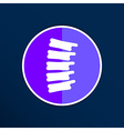 Spine diagnostics symbol design spine icon vector image vector image
