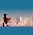super boy city silhouette vector image vector image