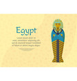 the tomb of the pharaoh of ancient egypt vector image vector image