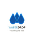 water drop logo icon design clean aqua blue vector image vector image