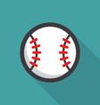 Baseball ball retro poster vector image