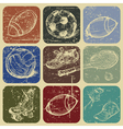 hand drawn set of sports banners vector image