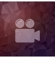 Video camera bubbles in flat style icon vector image
