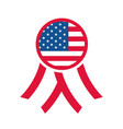 4th july independence day rosette american vector image