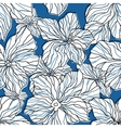 Abstract blue floral seamless pattern vector image