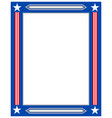 american flag decorative border frame vector image vector image