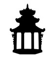 ancient buddhist temple in vietnam vector image vector image