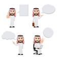 arabic businessman with empty speech bubbles vector image vector image