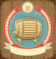 beer barrel label vector image vector image