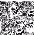 black and white halloween seamless pattern vector image vector image