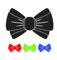 black bow icon vector image vector image