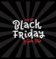 black friday super sale square banner design vector image