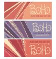 boho banners vector image vector image